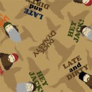 Fat Quarter Cotton Quilt Duck Dynasty Characters Brown Faces Toss New from bolt