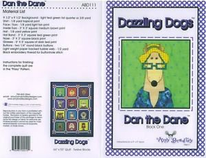 AMY BRADLEY DAZZLING DOGS DANE QUILT PATTERN ONLY applique