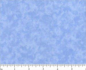 FIVE INCH SQUARES Two DOZEN BLENDER 0202 placid blue MOTTLED SANTEE PRINT WORKS
