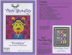 AMY BRADLEY DAZZLING DOGS FRANKIE Quilt block pattern only applique pattern