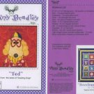 AMY BRADLEY DAZZLING DOGS TED Quilt Block Pattern only applique