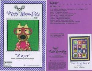 AMY BRADLEY DAZZLING DOGS MAJOR Quilt block KIt applique pattern fabric fusible