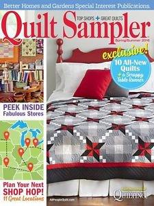 Better Homes And Gardens Quilt Sampler Magazine Issue 62 Spring/Summer 2016