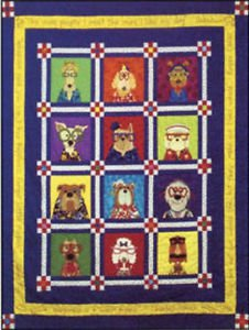 AMY BRADLEY DAZZLING DOGS ALL 12 DOGS QUILT KIT QUILT Pattern all patterns