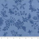 "QUILT BACKING Blue Tonal Butterfly 108"" WIDE COTTON NEW ON BOLT BY THE YARD"