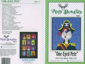 AMY BRADLEY Kitty City PETE Quilt Block kit fabric patter fusible embellishments