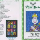 AMY BRADLEY Kitty City MISS KITTY Quilt Block kit fabric fusible embellishments