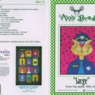 AMY BRADLEY Kitty City Sarge Quilt Block kit fabric FUSIBLE EMBELLISHMENTS