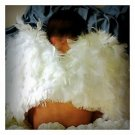 2T - White Feathered Baby Wings