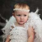 3T - White Feathered Baby Wings