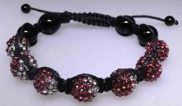 Adjustable new braclet with multi color sparkle beads