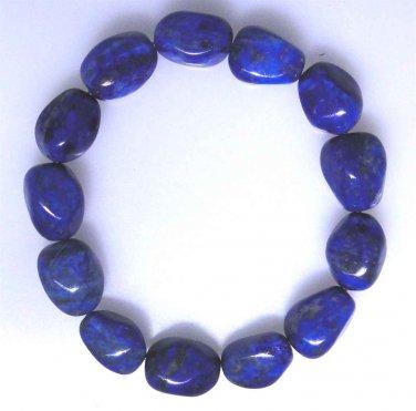 New Lapis Lazuli nugget elastic bracelet