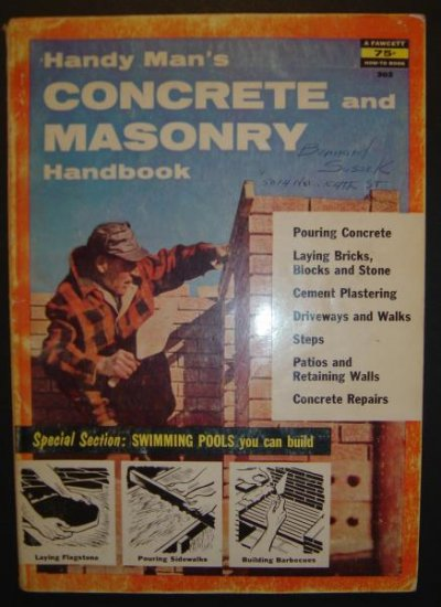 Handyman's Concrete and Masonry Guide book - 1956