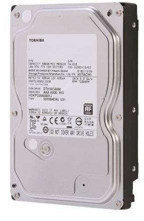 "Toshiba 500GB 3.5"" 7200RPM/32MB Internal Hard Drive, Model: DT01ACA050 - Bare Drive"