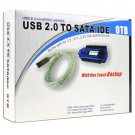 IDE/SATA to USB 2.0 Cable Adapter w/One Touch Backup