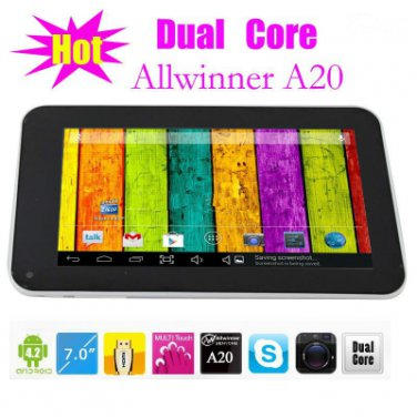 """A20 7"""" Q88 Pro A20 Google Android 4.2 Dual Core - WHITE"""