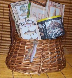 Fun Fishing Creel Gift Basket