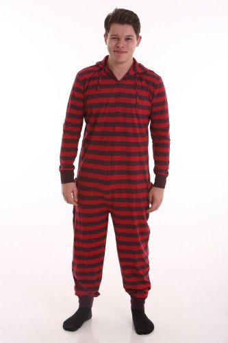 Adult non footed pajamas with Butt Flap a09627a21