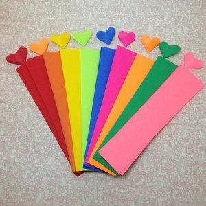 origami paper strips , origami hearts, origami paper pack, diy craft kit, Valentine's Day DIY gifts
