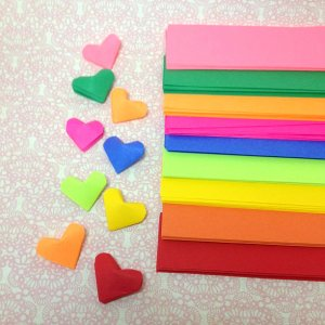 origami hearts, origami paper strips (400), diy craft kit, Valentine's day DIY gifts