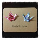 Origami Cranes Cards (Set of 4) Happy Birthday