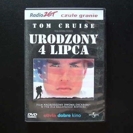 BORN ON THE FOURTH OF JULY TOM CRUISE POLISH LANGUAGE DVD
