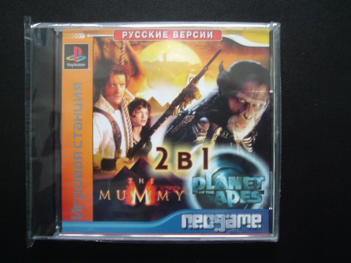 PLAYSTATION THE MUMMY AND PLANET OF THE APES ENGLISH AND RUSSIAN LANGUAGE GAMES
