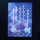 FIVE CANDLES UKRAINIAN LANGUAGE NEW YEAR CHRISTMAS CARD