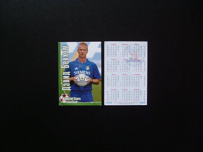 DAVID BECKHAM  LA GALAXY AND ENGLAND  RUSSIAN LANGUAGE CALENDAR CARD 2008