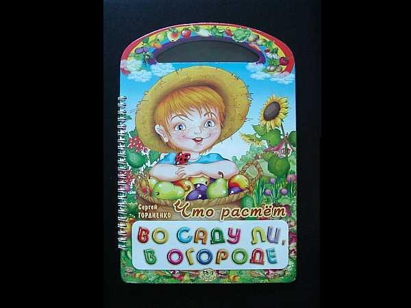 RUSSIAN LANGUAGE GROWING IN THE GARDEN CHILDRENS LEARNING BOOK