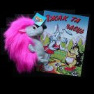 UKRAINIAN LANGUAGE CHILDRENS BOOK AND TOY THE HEDGEHOG AND THE RABBIT