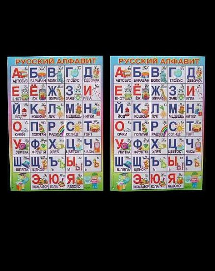 RUSSIAN LANGUAGE ABC ABV ALPHABET LEARNING PAGES