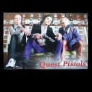QUEST PISTOLS  PAIR OF RUSSIAN LANGUAGE CALENDAR BOOKMARK 2009