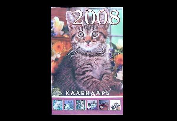 OUR CAT FRIENDS RUSSIAN AND UKRAINIAN LANGUAGE CALENDAR 2008