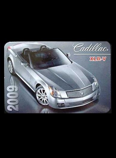 CADILLAC XLR V  RUSSIAN LANGUAGE CALENDAR BOOKMARK 2009