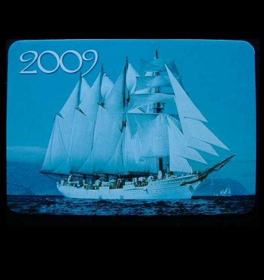TALL SHIPS  RUSSIAN UKRAINIAN LANGUAGE CALENDAR CARD 2009