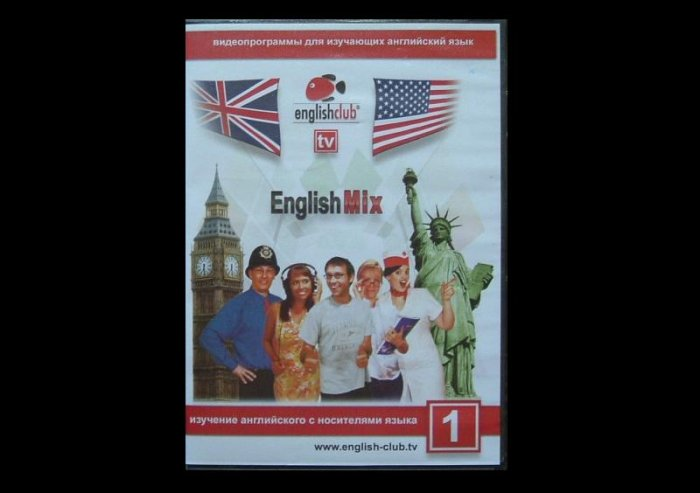 THE ENGLISH MIX ENGLISH RUSSIAN LANGUAGE LEARNING DVD