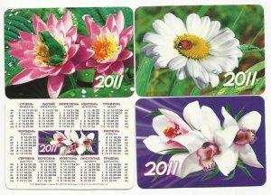 SET OF THREE RUSSIAN LANGUAGUE MILITARY CALENDAR CARDS 2010