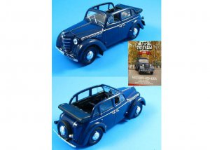 RUSSIAN LANGUAGE MOSKVICH 400 COLLECTORS BOOK WITH 1:43 SCALE MODEL