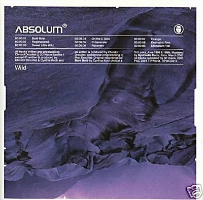 ABSOLUM WILD STUNNING OOP TIP.WORLD PSY-TRANCE CD