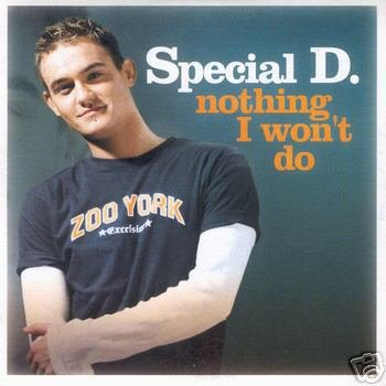 SPECIAL D NOTHING I WON'T DO CD LTD EDN CARD SLEEVE NEW