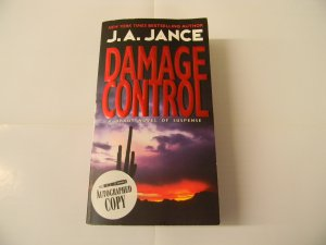 Damage Control by J.A. Jance *Autographed Copy* Discounted Price