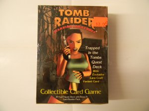 """Tomb Raider """"Trapped in the Tombs Quest Deck"""" with Exclusive Lara Croft Variant Card"""