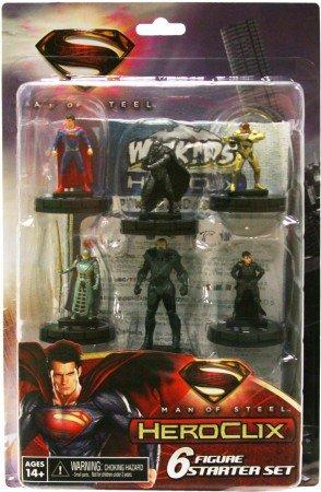 DC HEROCLIX MAN OF STEEL STARTER SET 6 PACK