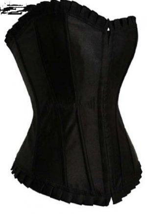 Black Satin Corset Plus Size