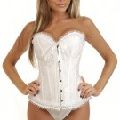 Medium White Satin Bridal Corset