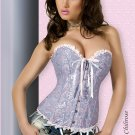 Large Blue Brocade Corset with Thong