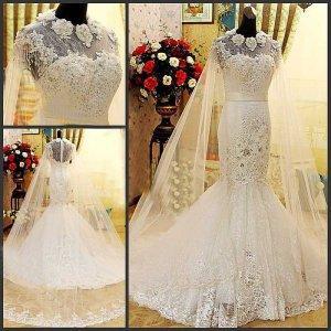 2013 Design Elegant Lace Mermaid Wedding Gown