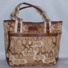NYC NAT OPTIC TOTE TAN HANDBAG