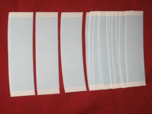 """WALKER 1""""X 3""""LACE FRONT SUPPORT STRIPS TAPE (BLUE LINER) 108 PC~Lace Wigs Toupee"""